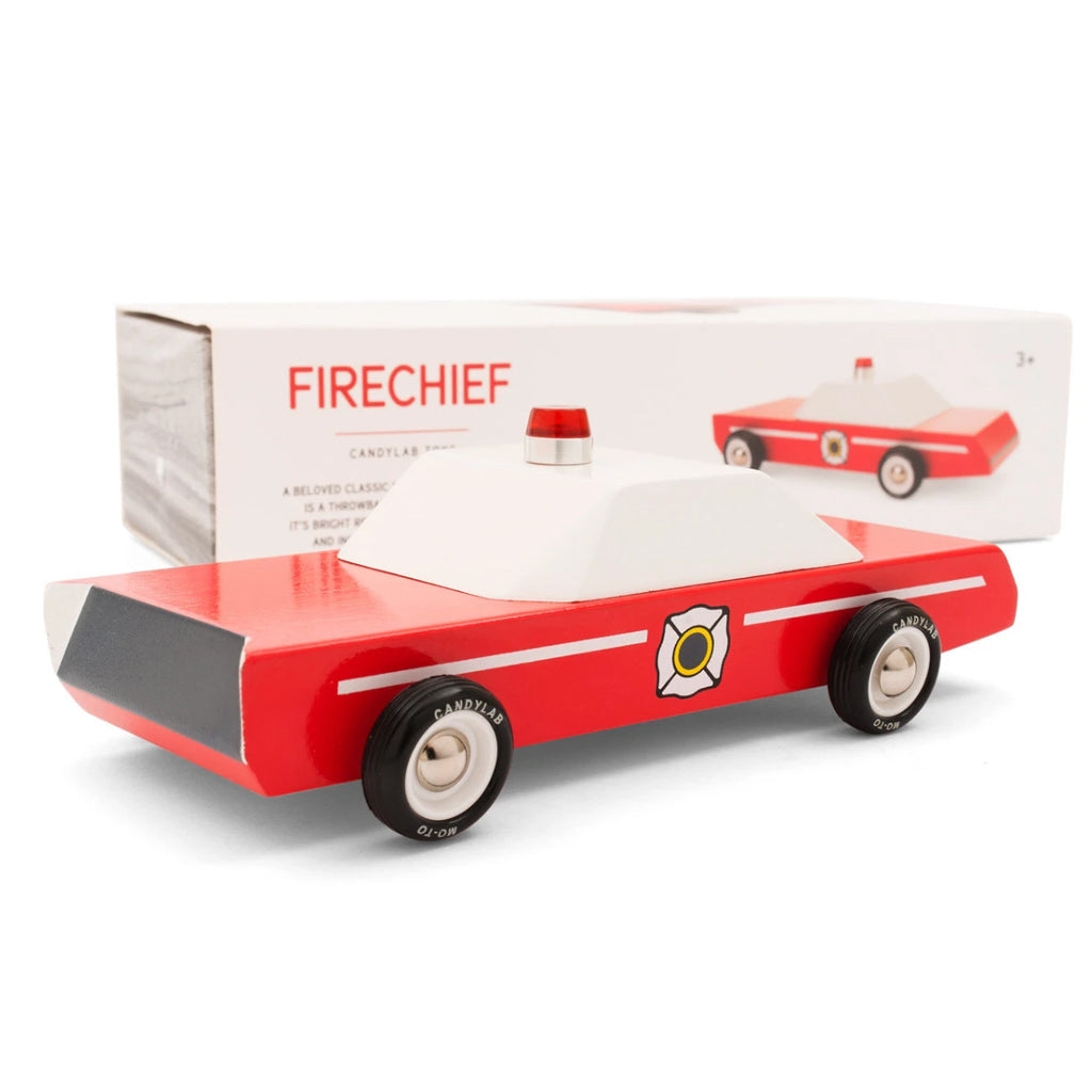 Candylab - Firechief Wooden Car | Mapamundi Kids