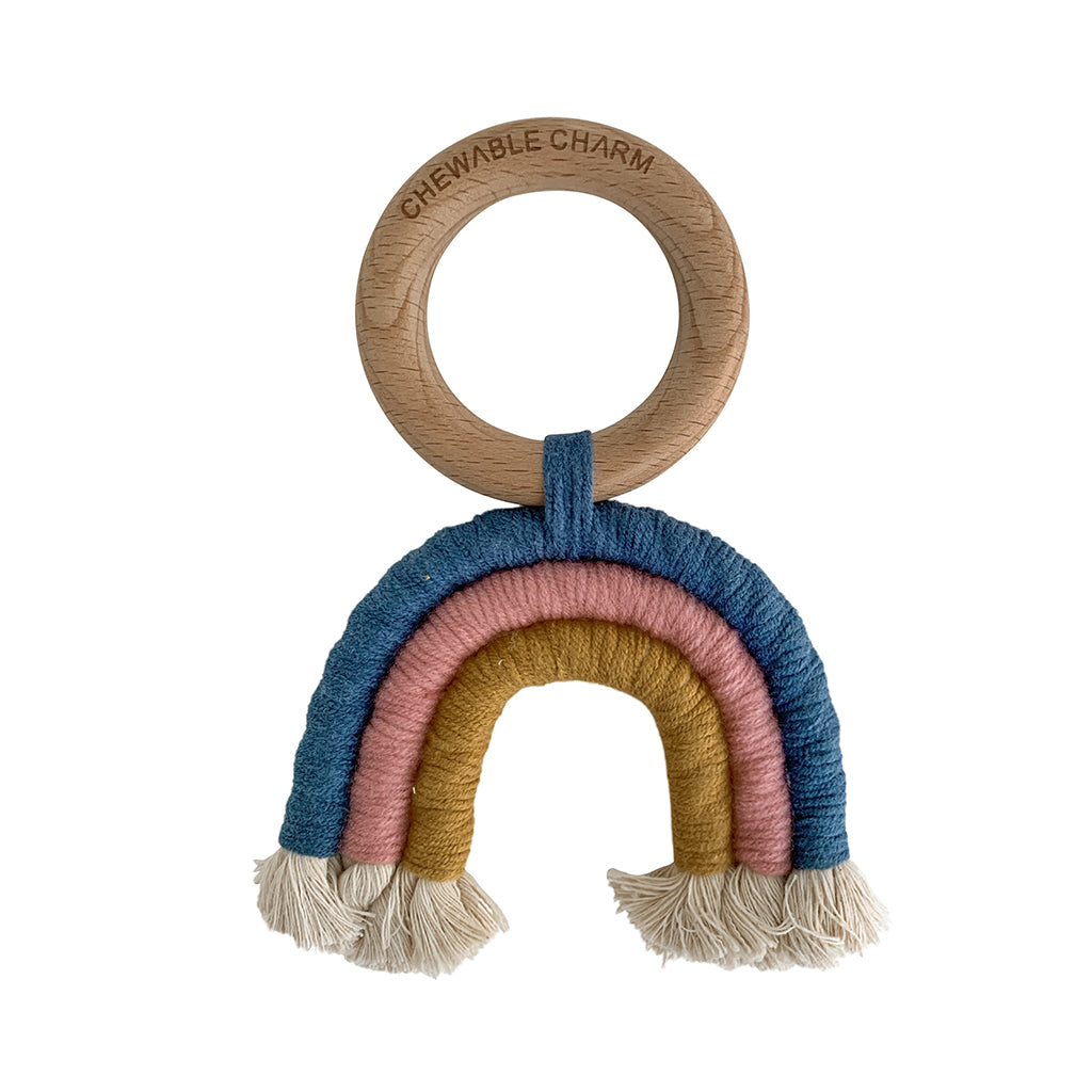 Chewable Charm - Rainbow Macrame Teether - Made in USA