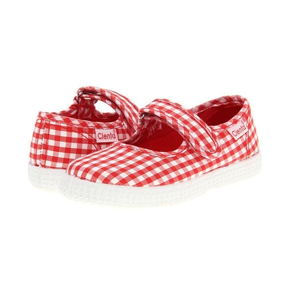 Cienta Shoes - Mary Jane - Red Gingham - Made in Spain | Mapamundi Kids