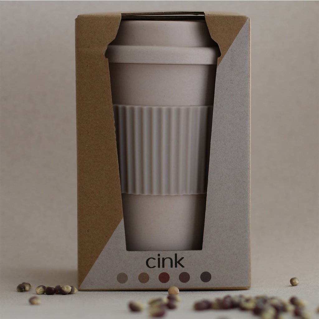 CINK Sweden - Bamboo Takeaway Travel Mug - Fog | Mapamundi Kids