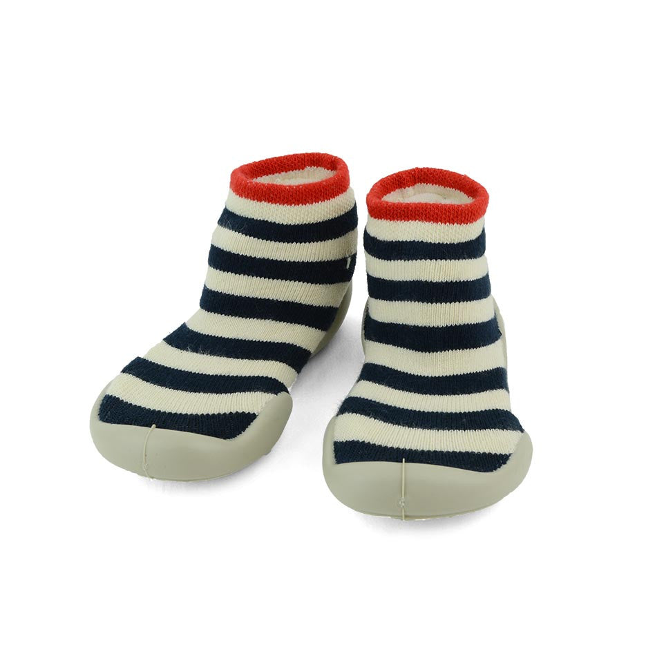 collegien kids slipper socks navy stripe