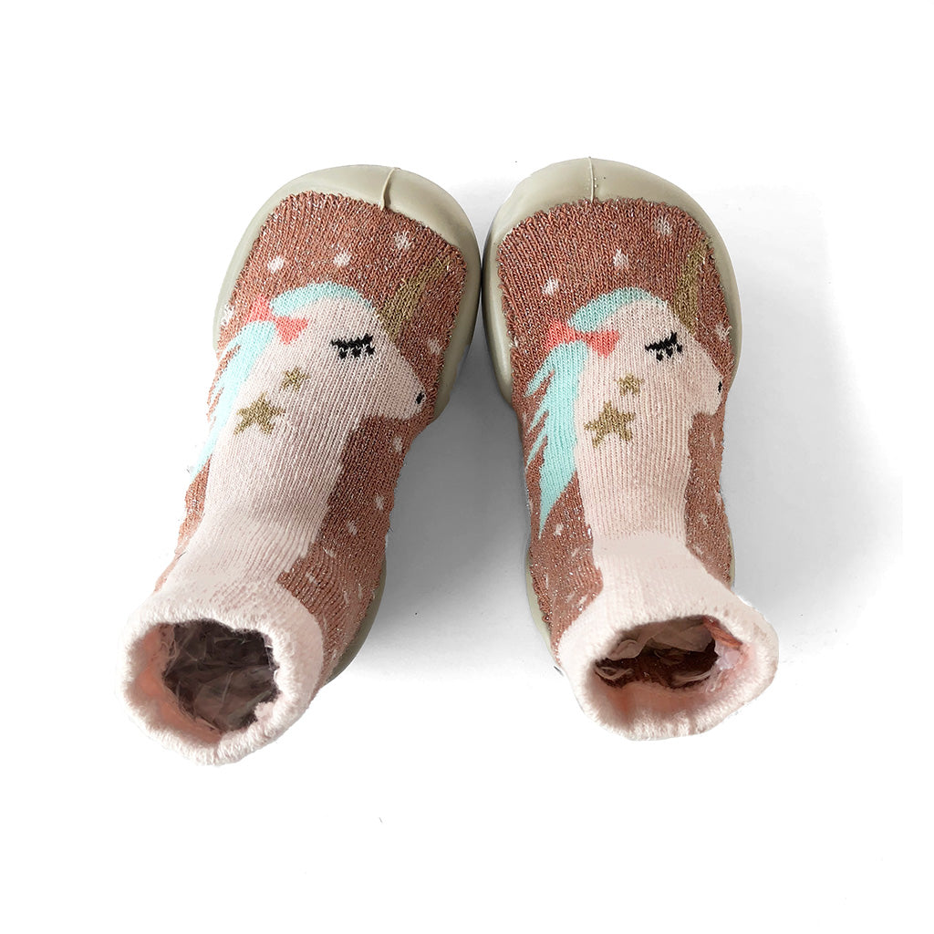 Slipper Socks - Lurex Unicorn