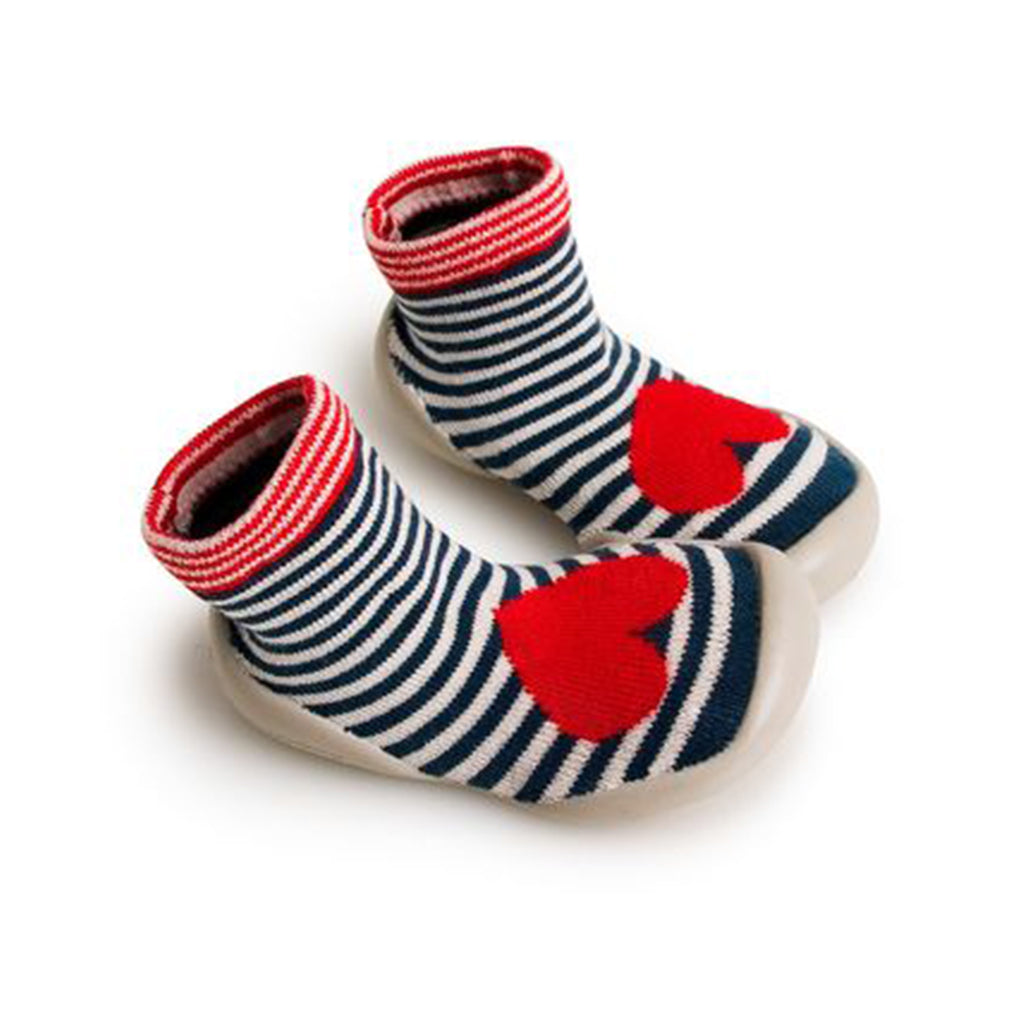 Collégien France - Slipper Socks - Bebop Red Heart | Mapamundi Kids