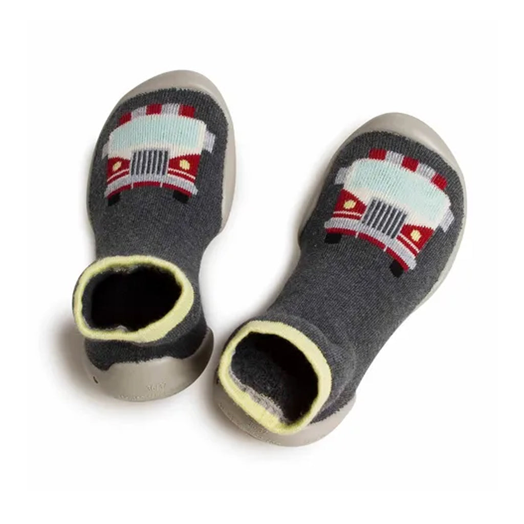 Collégien - Slipper Socks - Fire Truck - Made in France | Mapamundi Kids