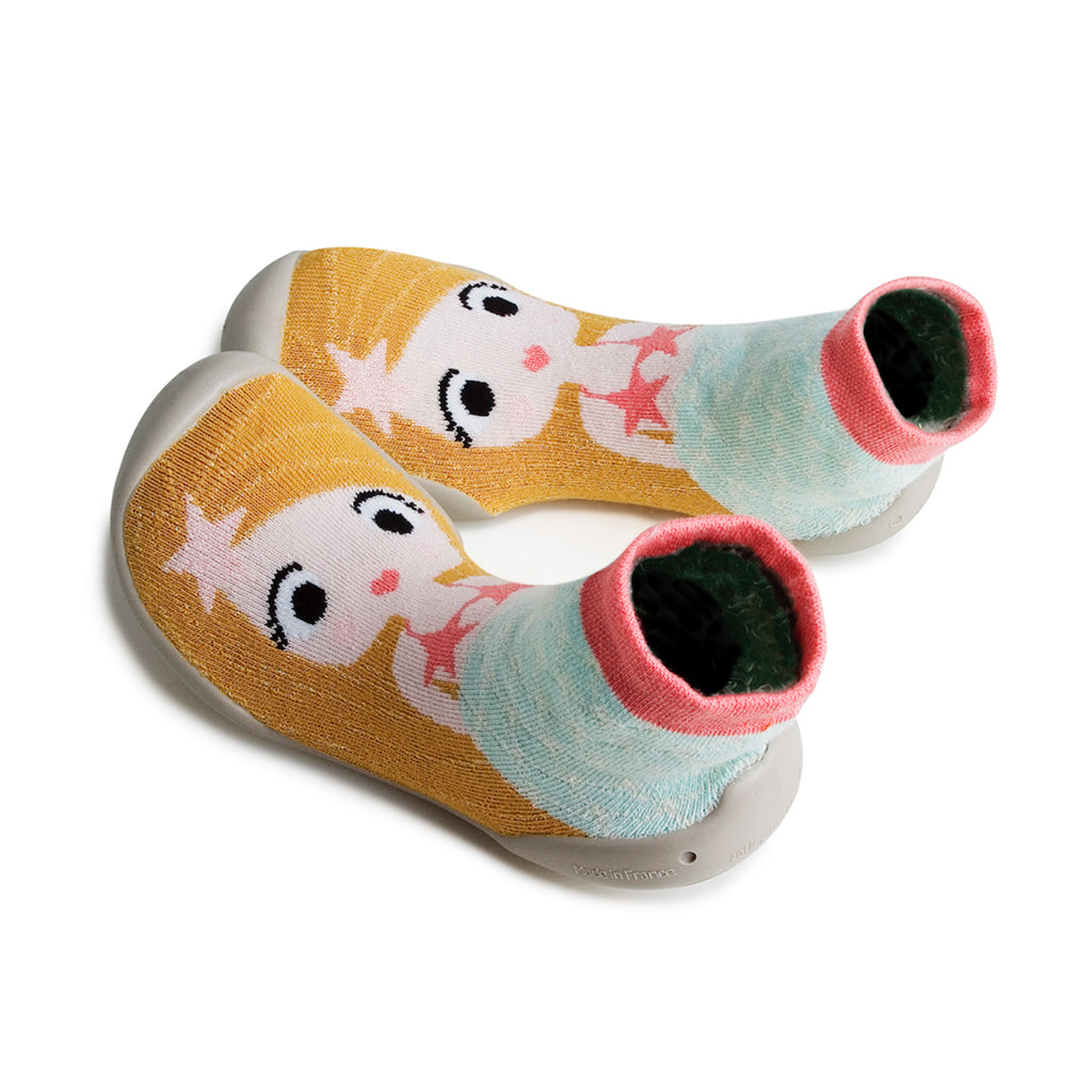 Collegien - Slipper Socks - Girl with Starfish - Made in France