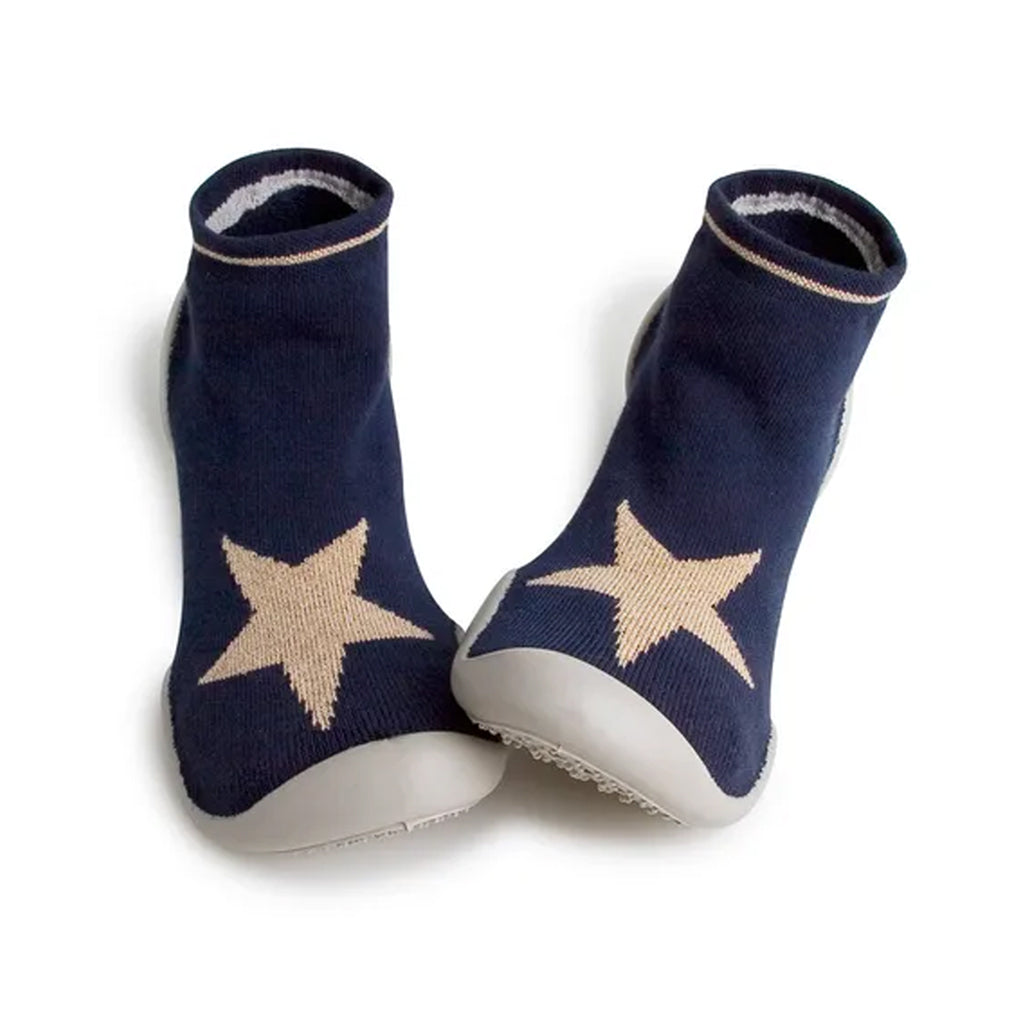 Collegien - Slipper Socks - Navy with Lurex Star | Mapamundi Kids