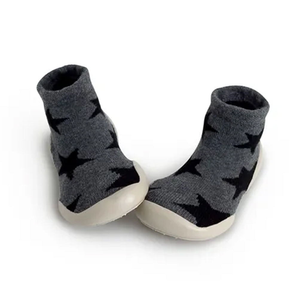 Collégien - Slipper Socks - Black Stars -  Made in France | Mapamundi Kids