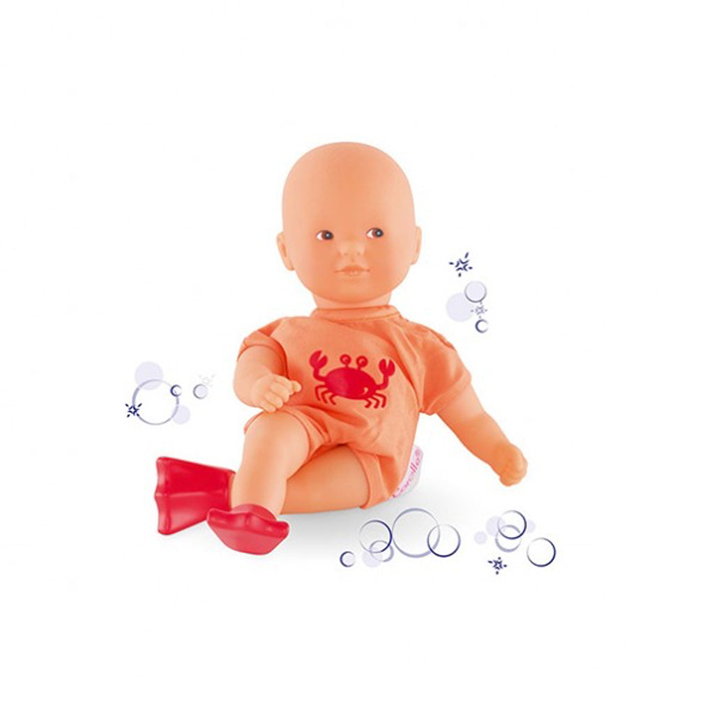 Corolle Dolls - Mini Bath Doll in Orange - Designed in France