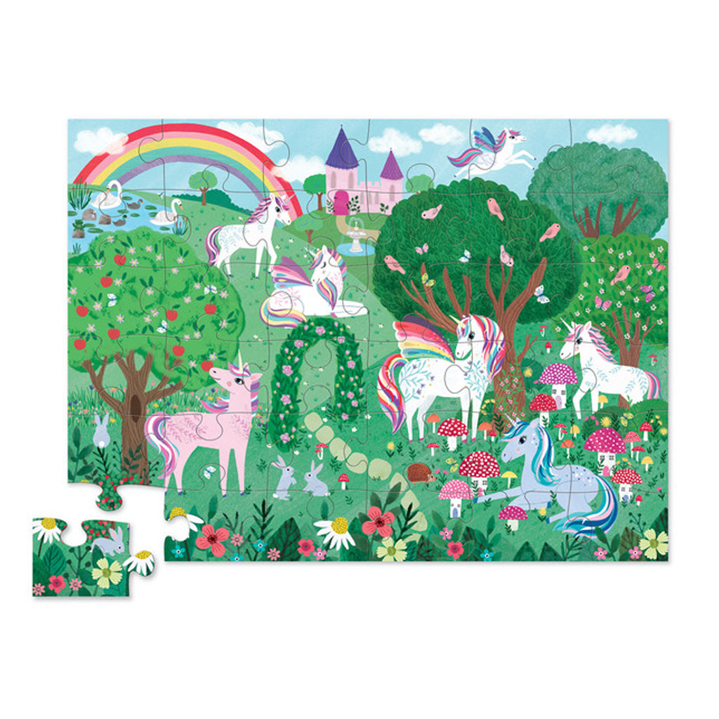 Crocodile Creek - 36 Pc Puzzle - Unicorn Garden