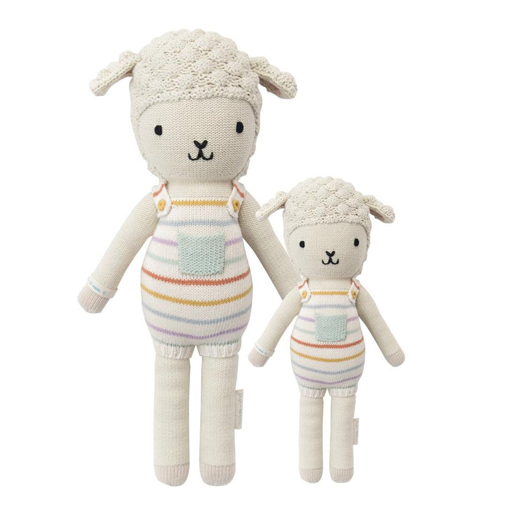 Cuddle + Kind - Avery the Lamb - Handmade in Peru - 1 doll provides 10 meals