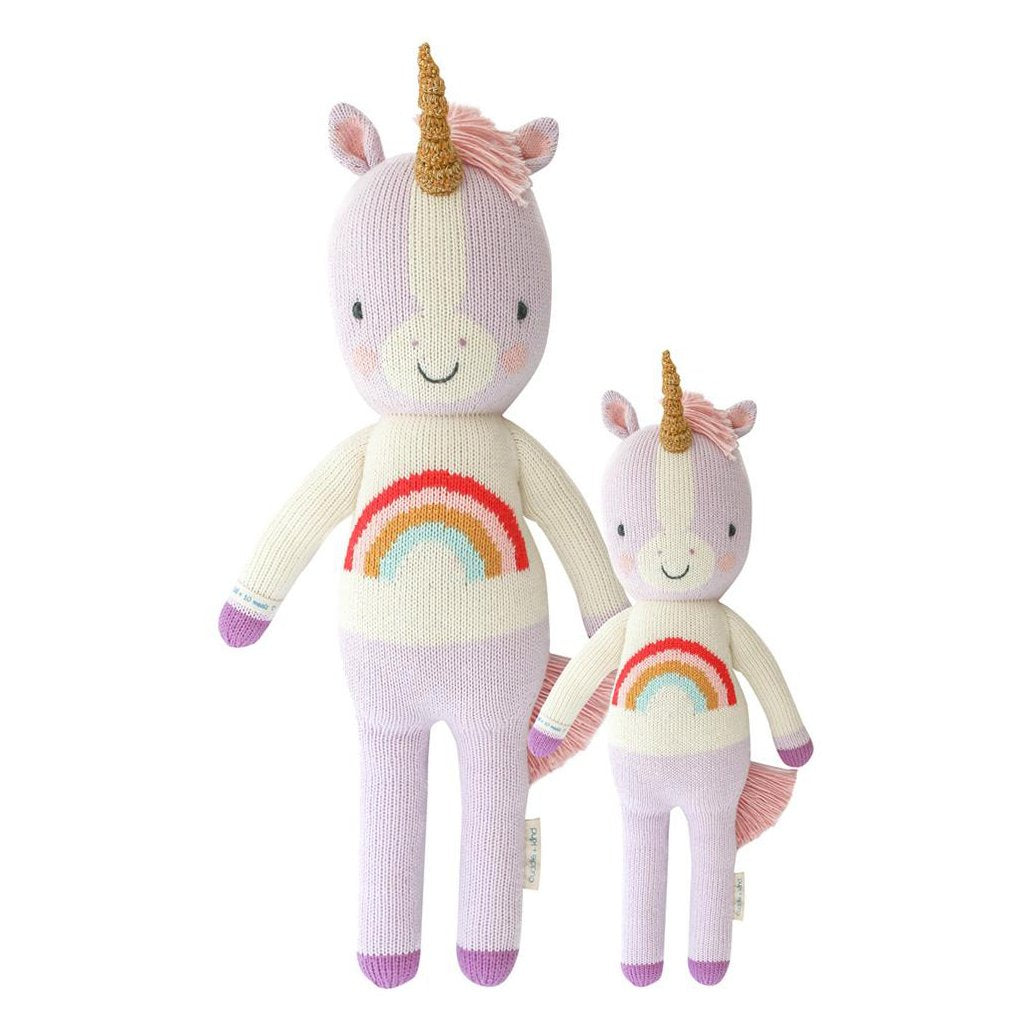 Cuddle + Kind - Zoe the Unicorn - Made in Peru - 1 doll provides 10 meals for children