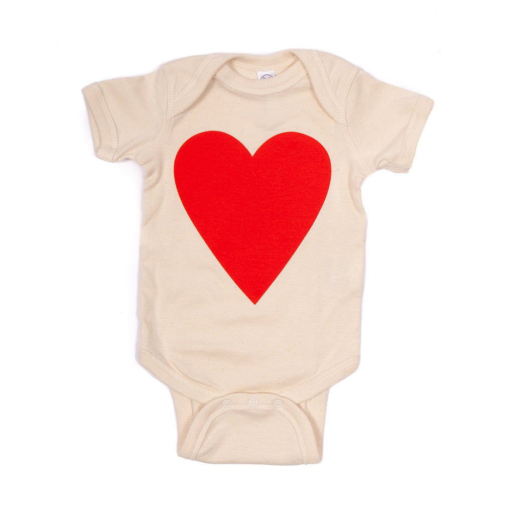 Culk - Organic Heart Onesie - Made in San Francisco | Mapamundi Kids