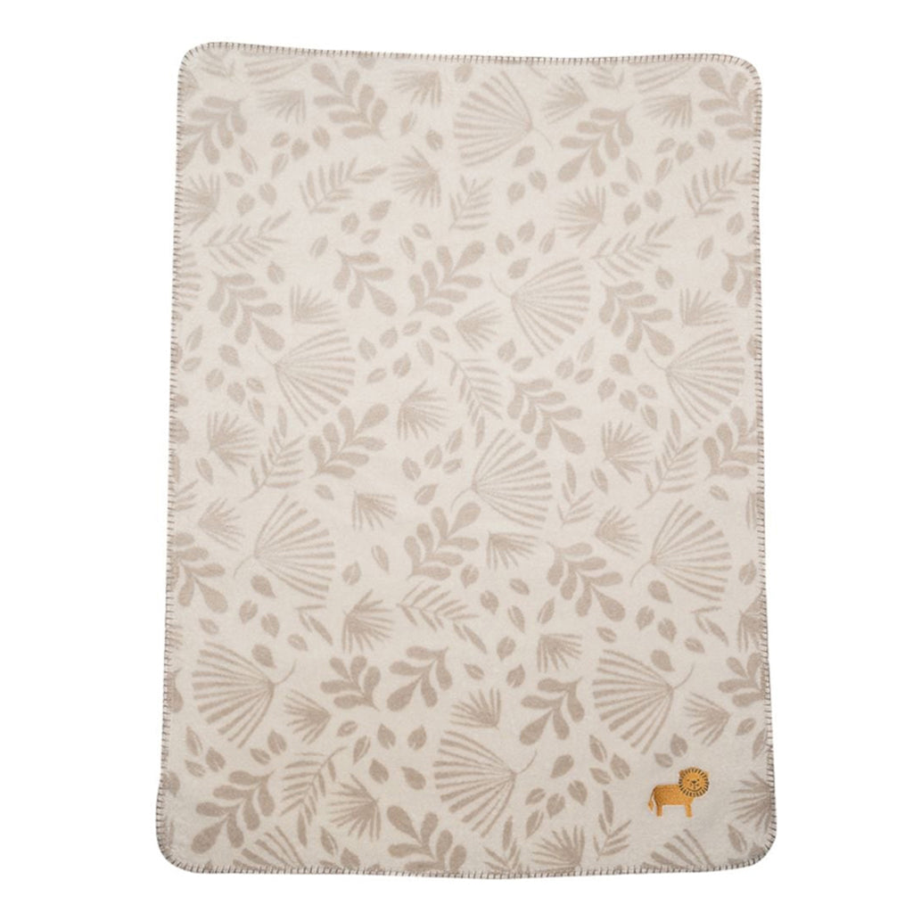 David Fussenegger - PANDA Blanket Jungle Lion Beige | Mapamundi Kids