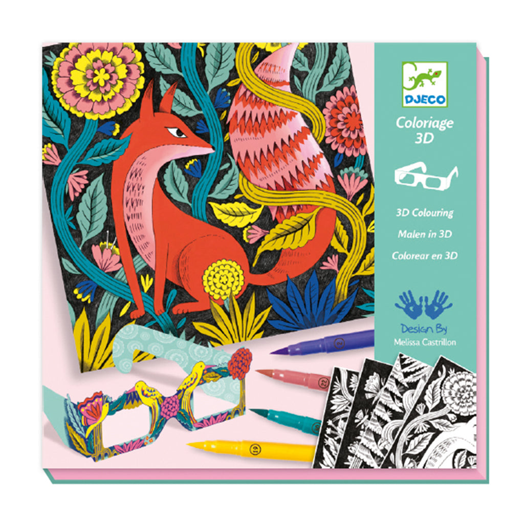 Djeco - 3D Coloring Kit - Fantasy Forest | Mapamundi Kids