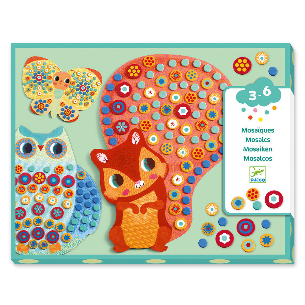Djeco | Mosaic Collage Kit - Forest Mosaic | Mapamundi Kids