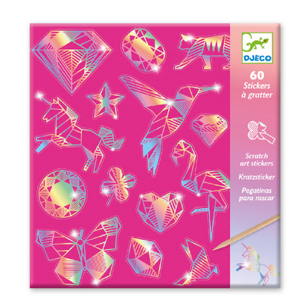 Djeco - Stickers - Diamond Scratch Art | Mapamundi Kids