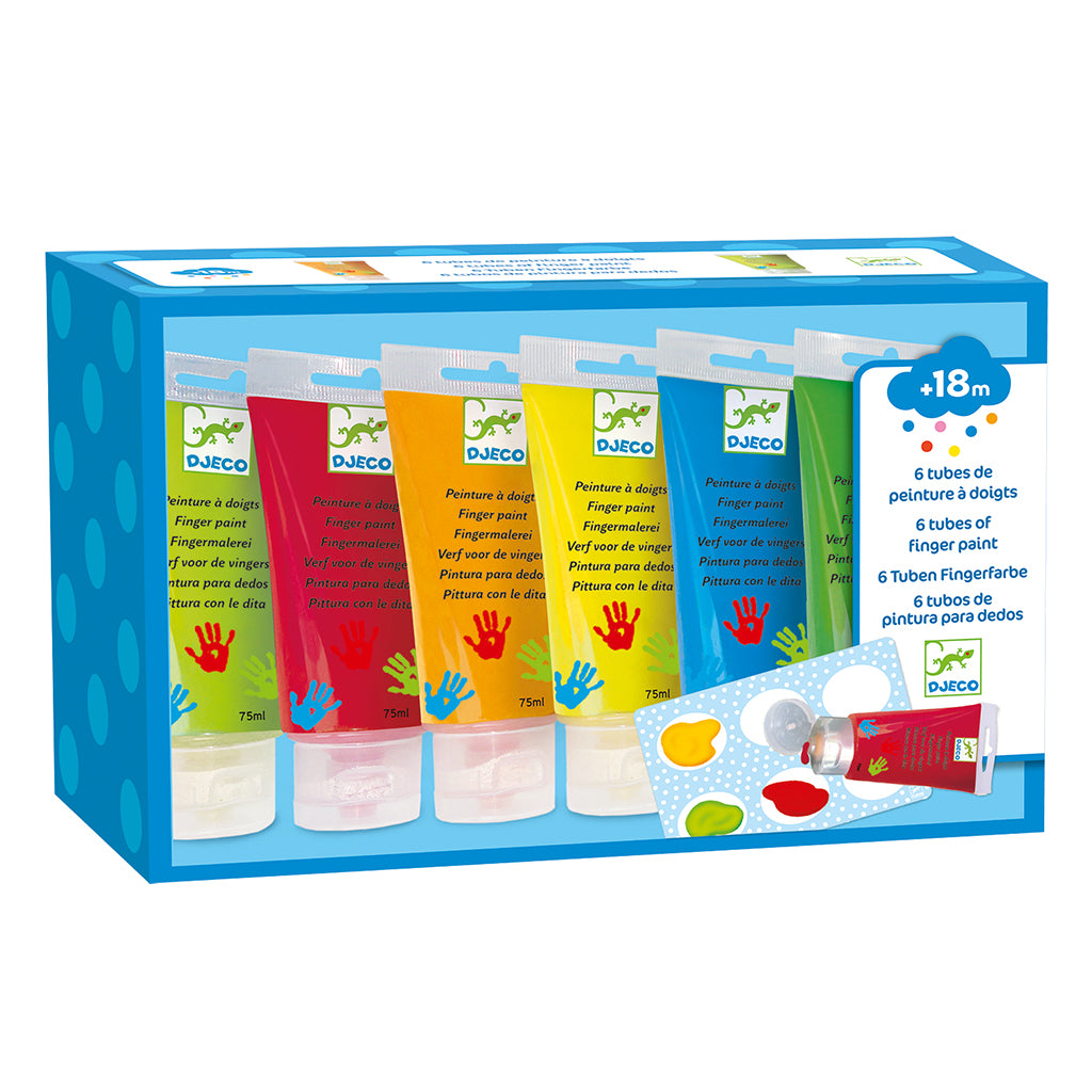Djeco - Finger Paint Set - Classic Colors | Mapamundi Kids