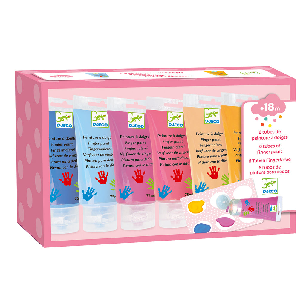 Djeco - Finger Paint Set - Sweet Colors | Mapamundi Kids