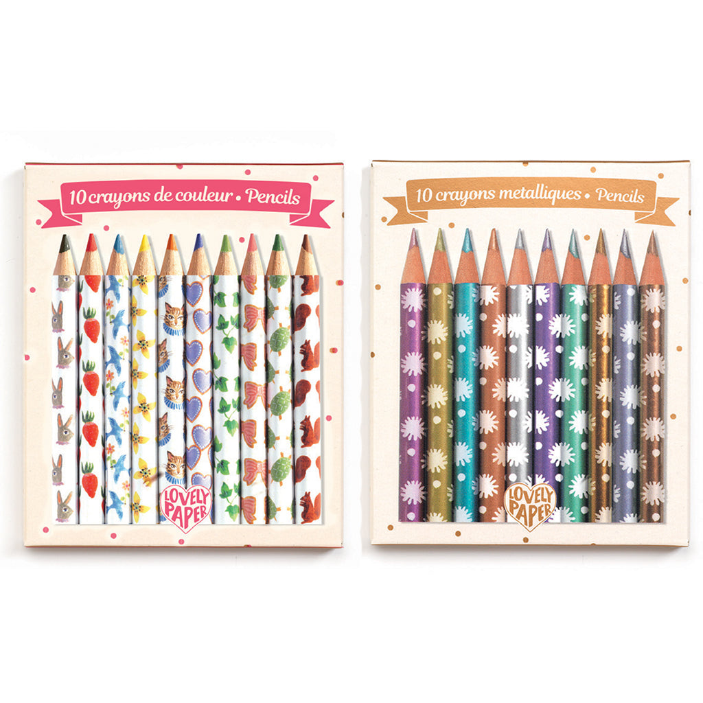 Djeco - Mini Pencil Sets by Chichi and Aiko | Mapamundi Kids