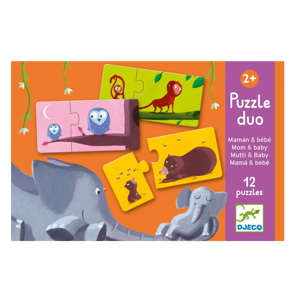 Djeco - Puzzle Duo - Mama and Baby | Mapamundi Kids