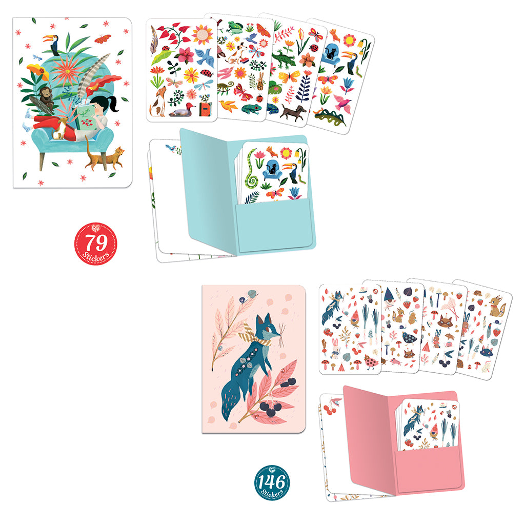 Djeco - Sticker Notebooks Lucille & Sarah | Mapamundi Kids