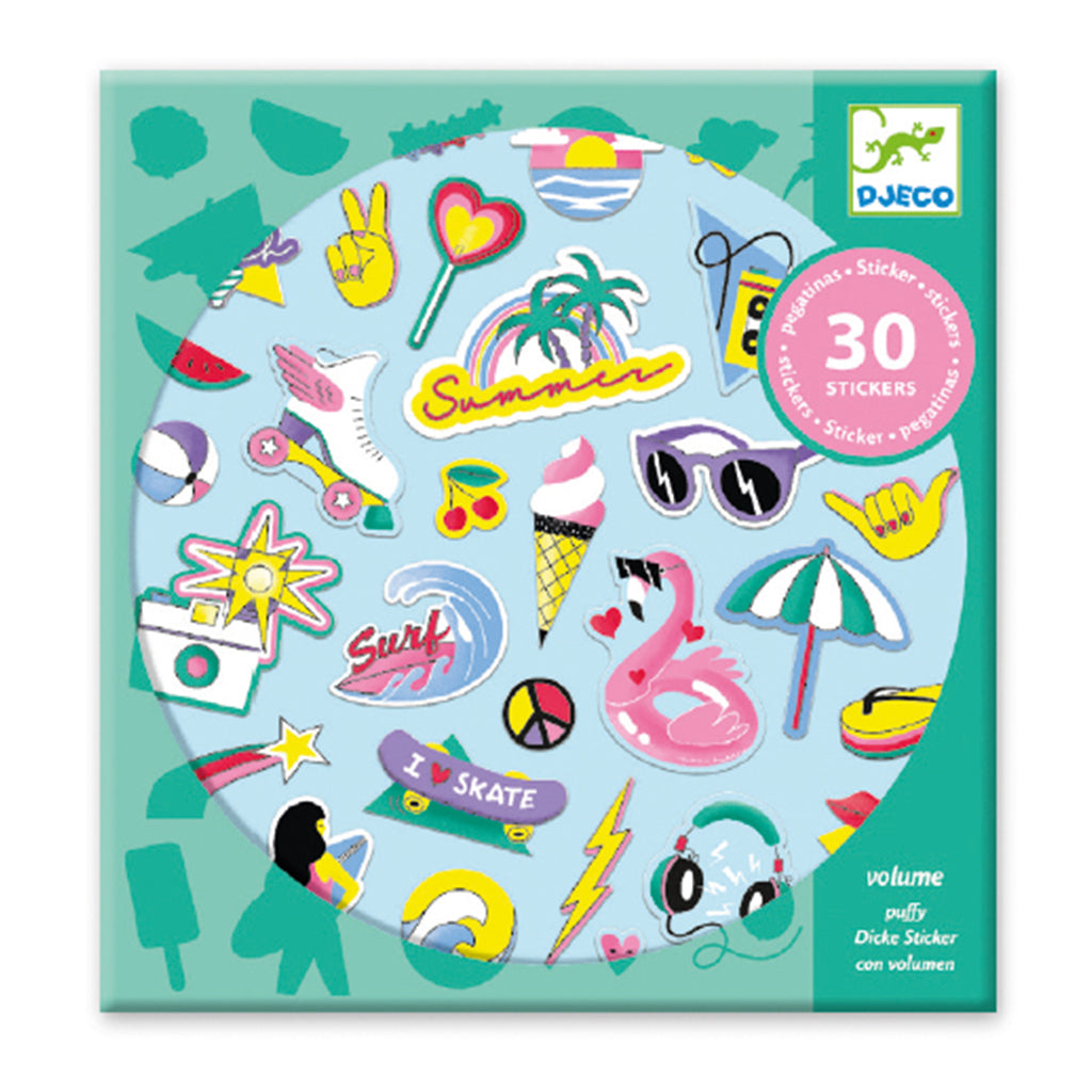 Djeco - Puffy Stickers - California | Mapamundi Kids