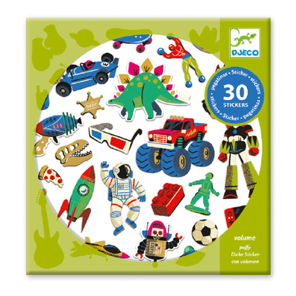 Djeco - Puffy Stickers - Retro Toys | Mapamundi Kids