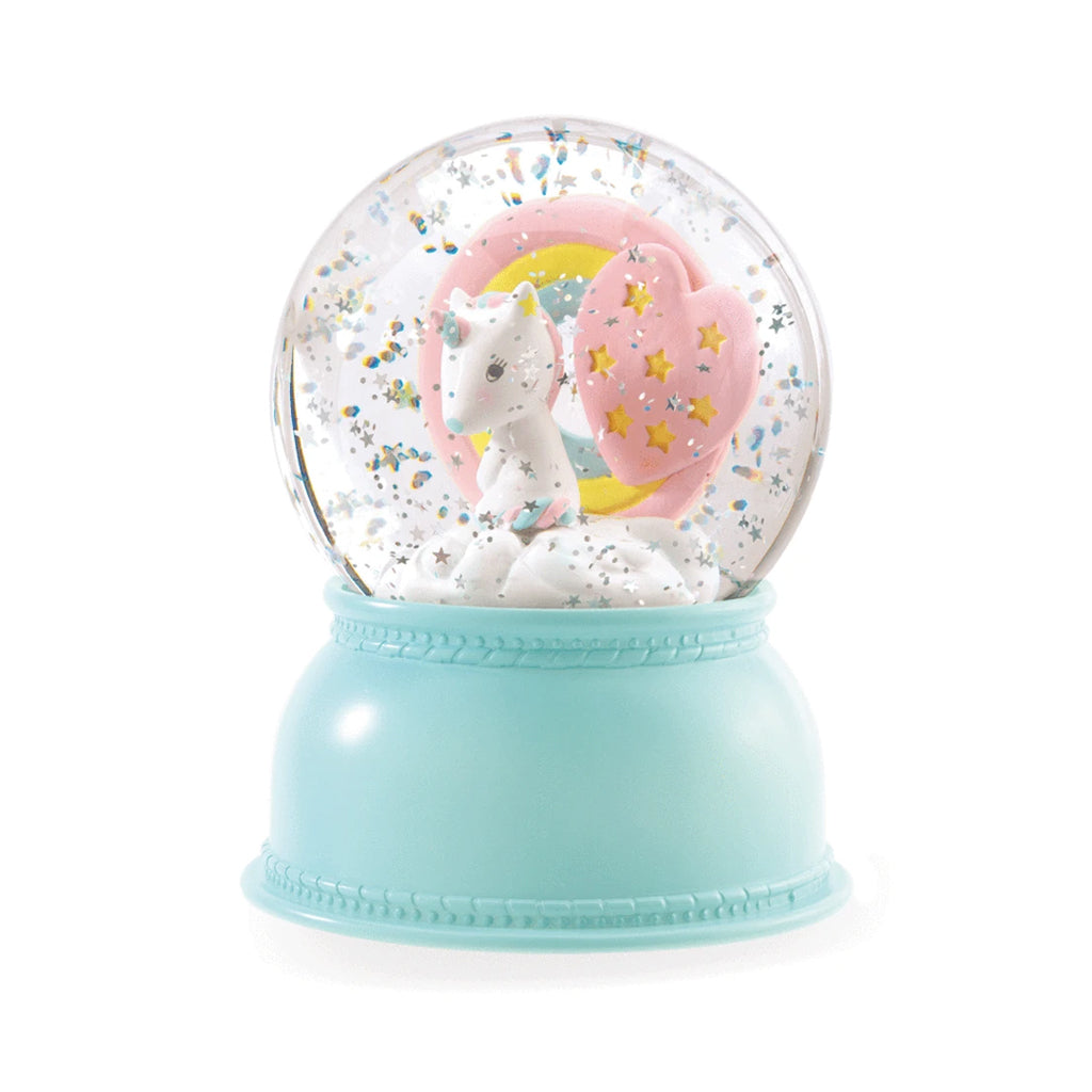 Djeco - Unicorn Night Light Snow Globe | Mapamundi Kids