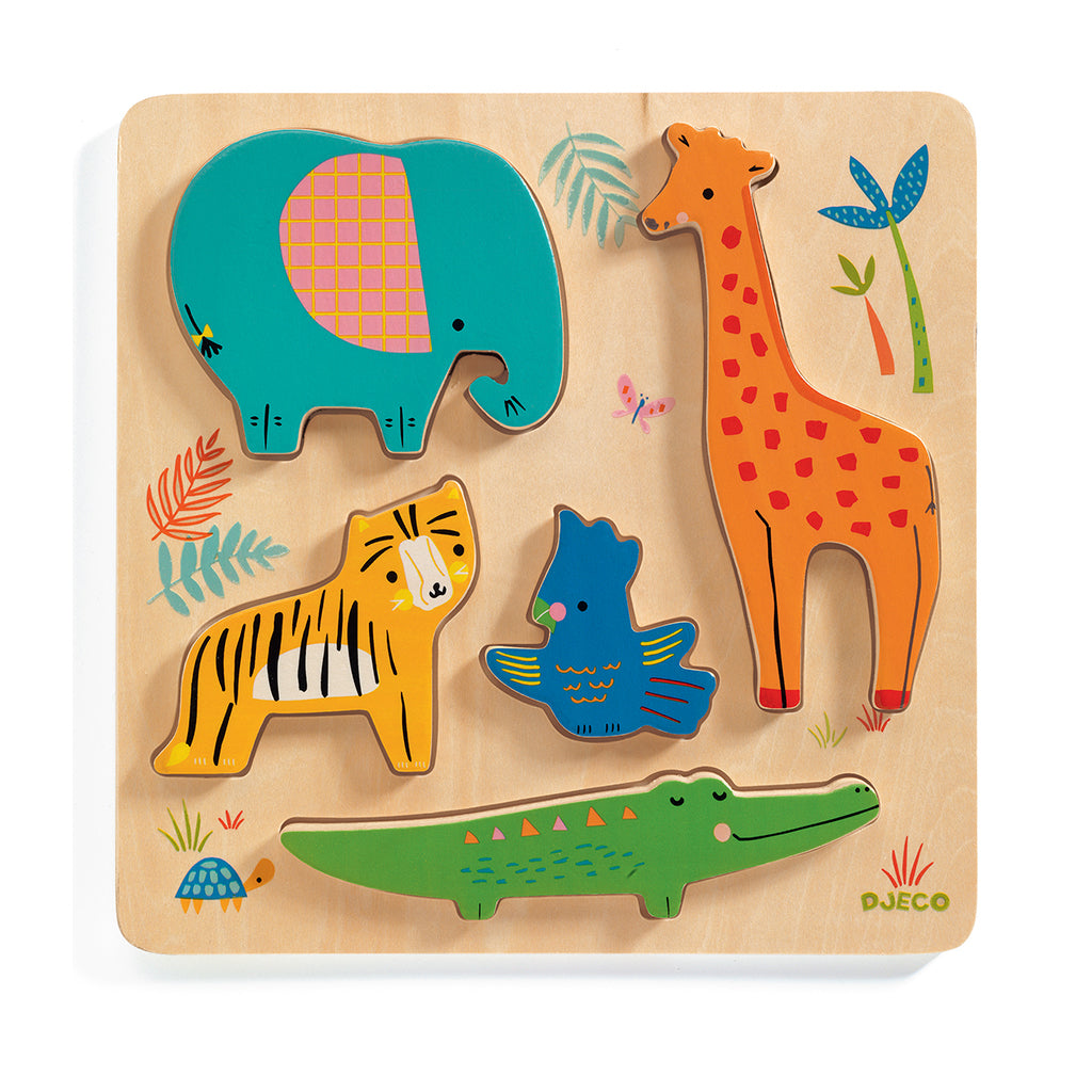 Djeco - Woody Jungle Puzzle | Mapamundi Kids
