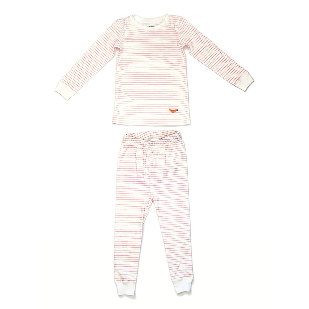 Two Piece Pajama Set - Pink Stripe | Mapamundi Kids