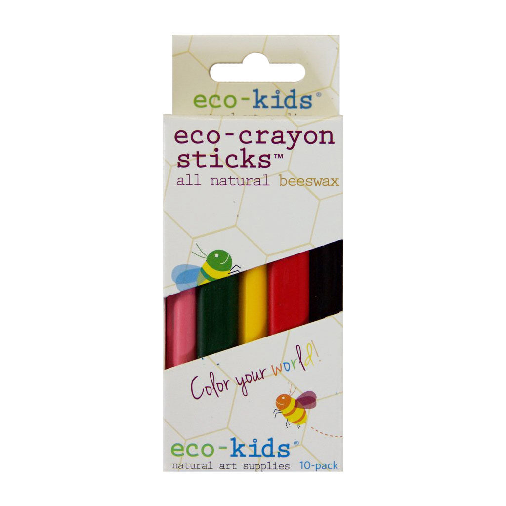 Eco-Kids - Eco-Beeswax Crayon Sticks 10 Pc - Made in the USA