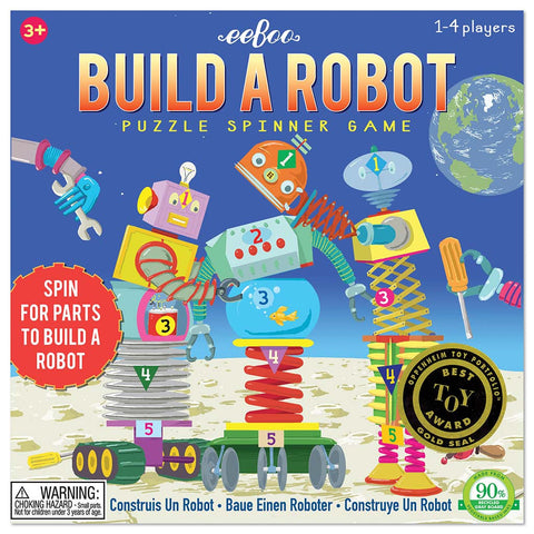 Eeboo - Build a Robot Puzzle Spinner Game