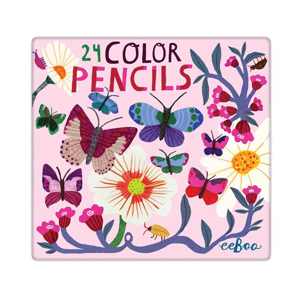 Eeboo - Butterflies & Flowers 24 Colored Pencils | Mapamundi Kids