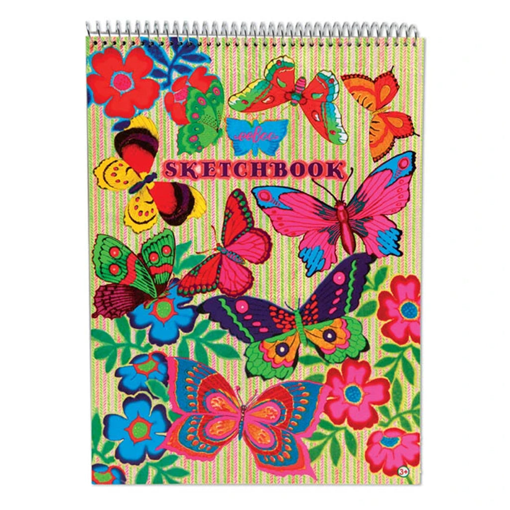 Eeboo - Fluorescent Butterflies Sketchbook | Mapamundi Kids