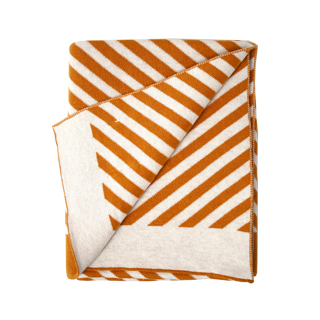 Eef Lillemor - Organic Blanket - Stripes/Brown | Mapamundi Kids