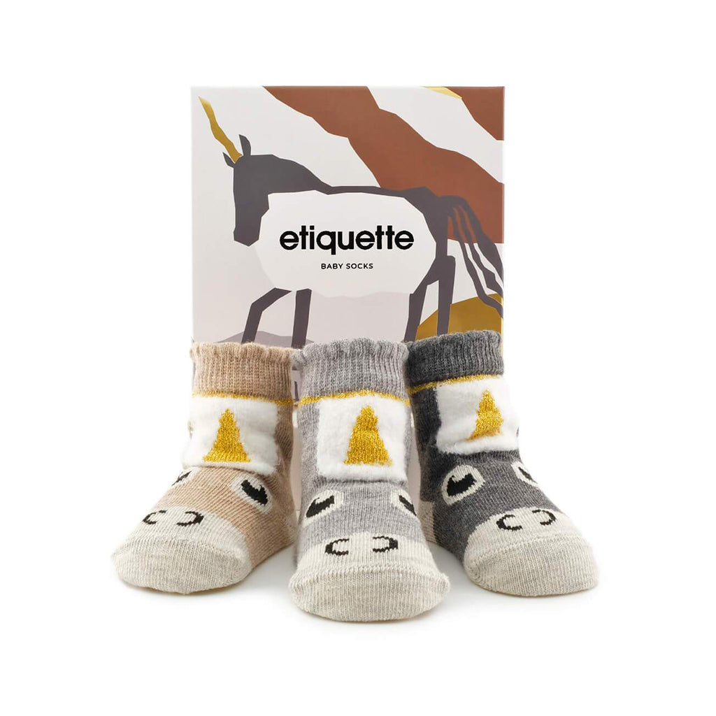 Etiquette Socks - Junior Unicorn Baby Socks - Made in Turkey