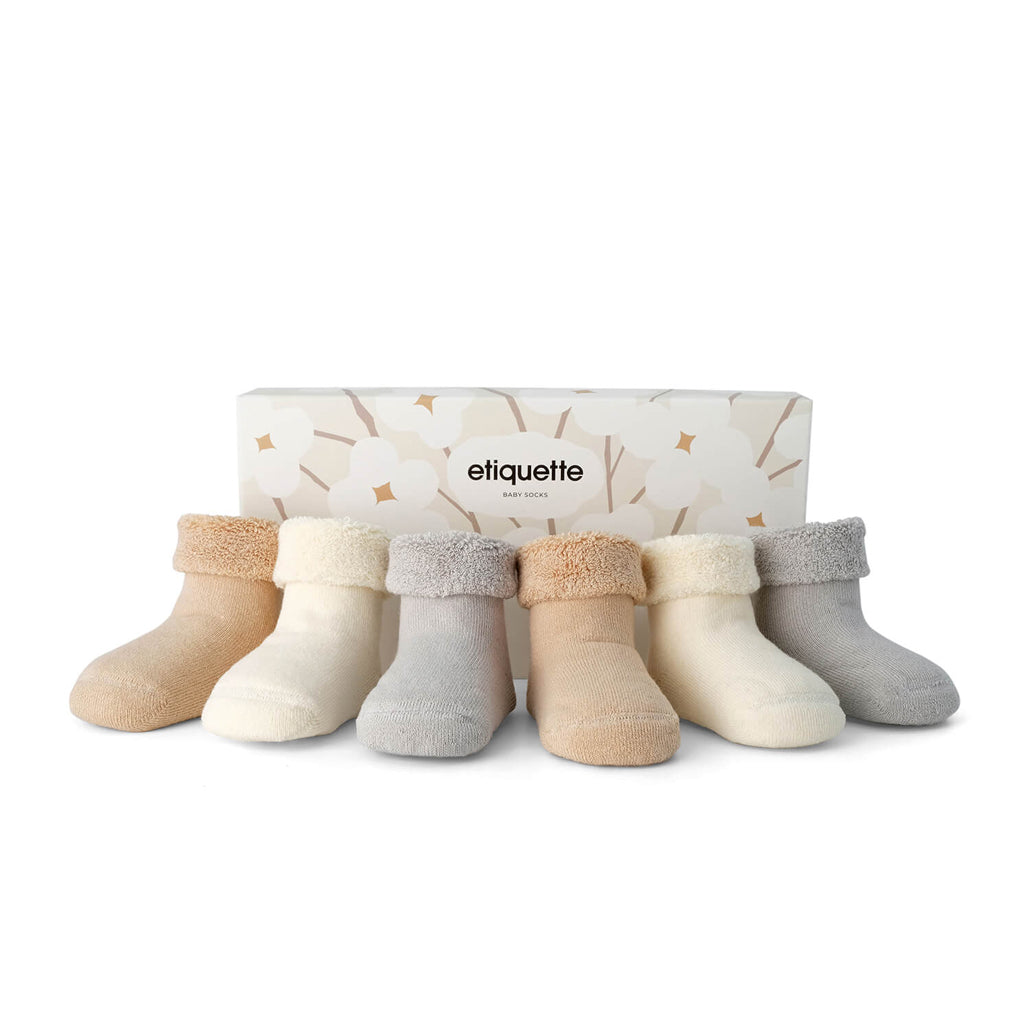 Etiquette - Junior Organic Pure Terry Baby Socks Bundle | Mapamundi Kids