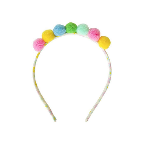 Everbloom Studio - Pompom Headband in Multi - SS20 - Made in Los Angeles