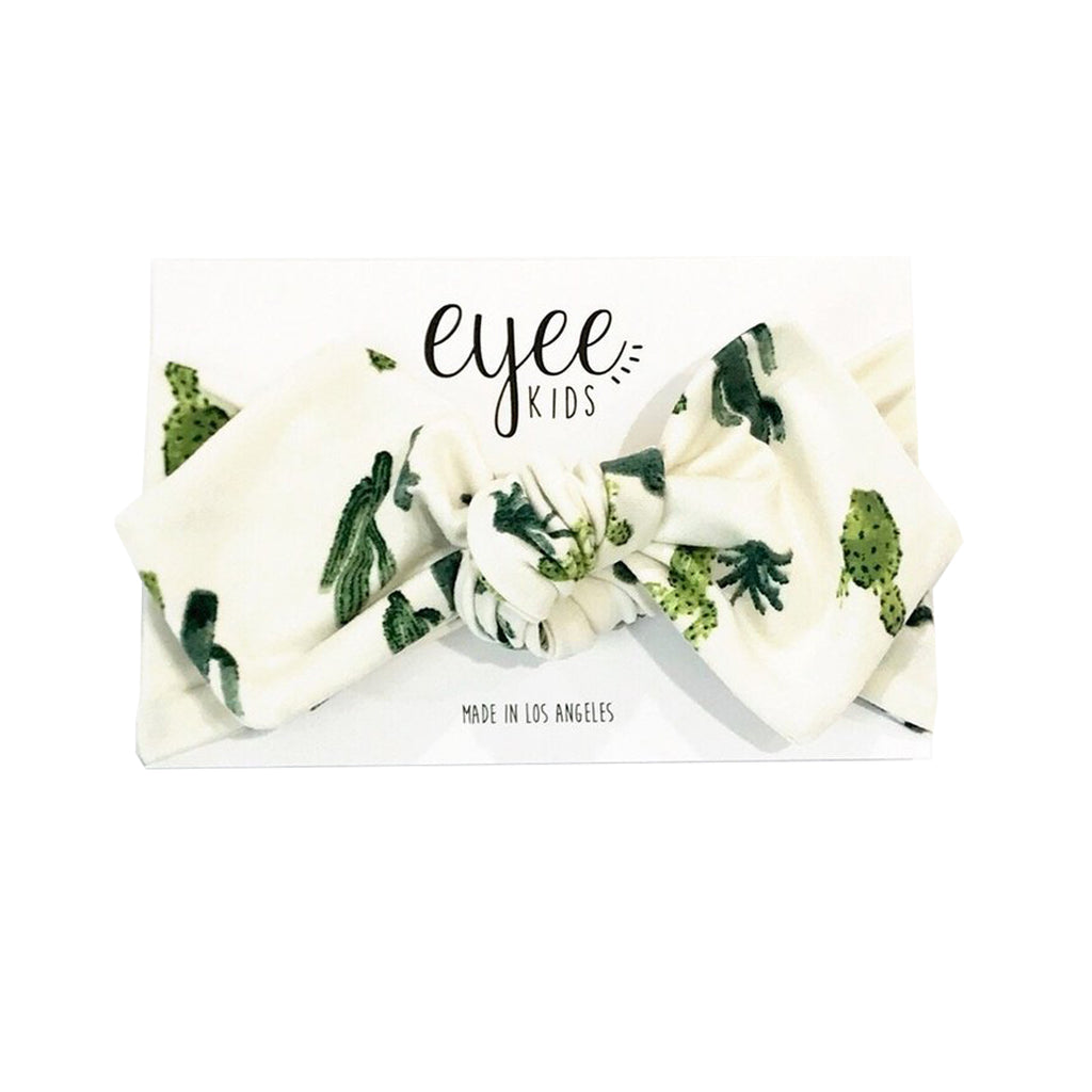 Eyee - Top Knot Headband in Cactus - Made in Los Angeles, CA