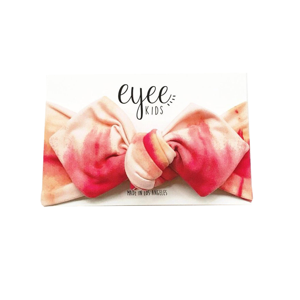 Eyee - Top Knot Headband in Pink Tie Dye | Mapamundi Kids