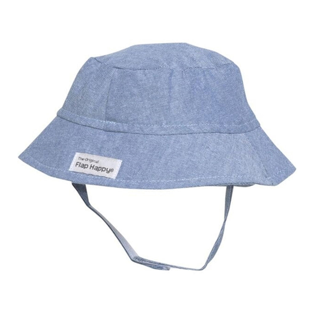 flap happy bucket hat chambray