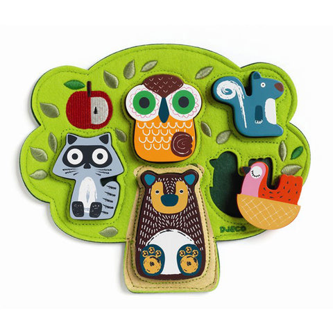 Djeco - Relief Puzzle Forest