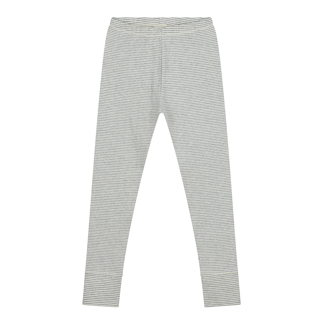 Gray Label AW20 - Striped Leggings - Grey Melange/Cream | Mapamundi Kids
