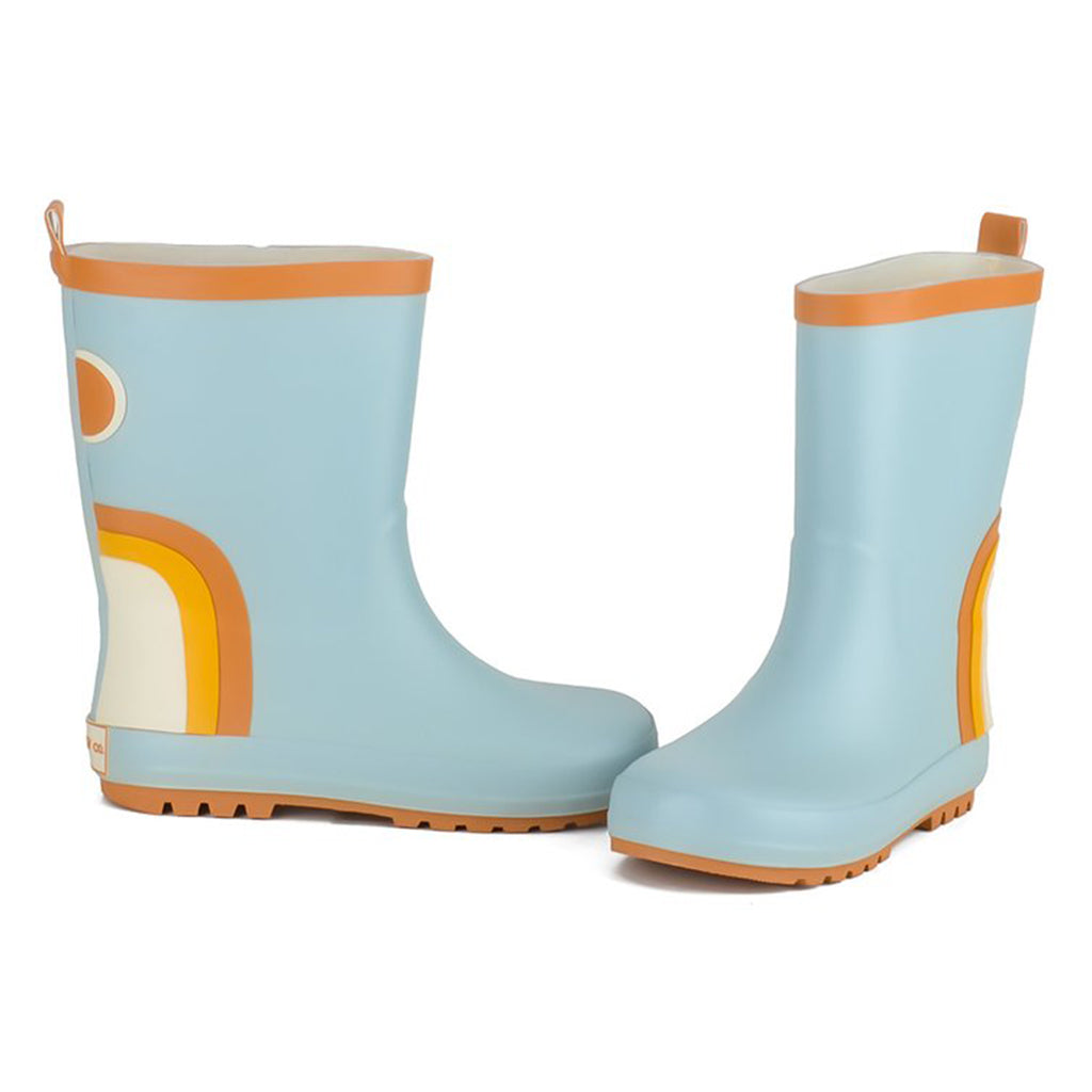 Grech & Co. - Rubber Rain Boots - Rainbow (Light Blue) | Mapamundi Kids