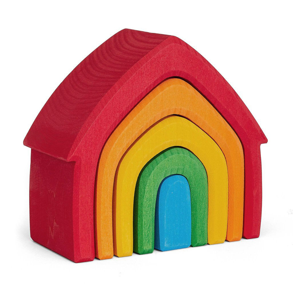 grimms rainbow stacking house