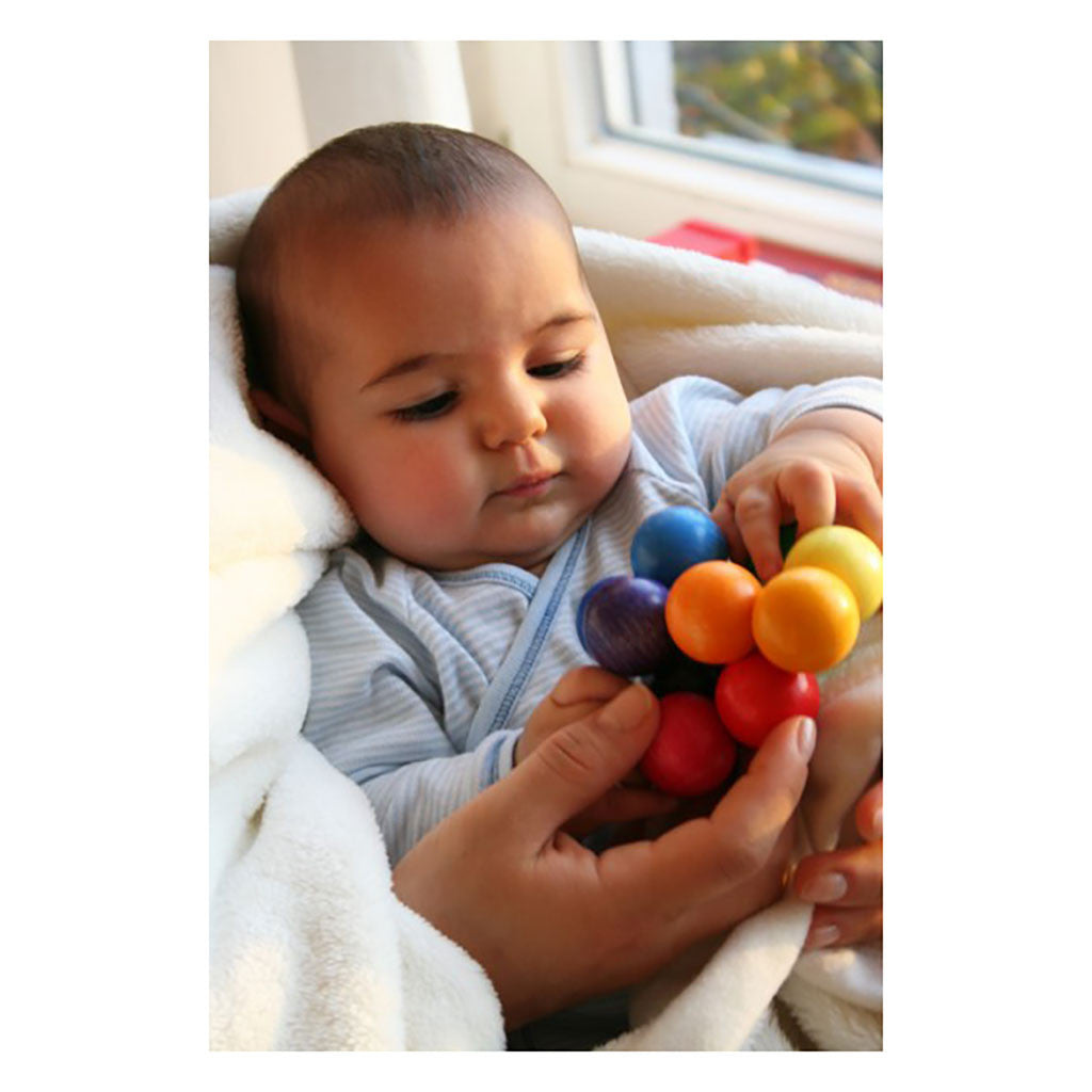 Grimm's Germany - Rainbow Bead Grasper Wooden Clutching Toy | Mapamundi Kids