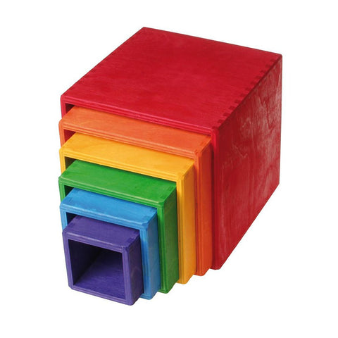 Grimm's Germany - Large Set of Wooden Rainbow Boxes - Made in Germany