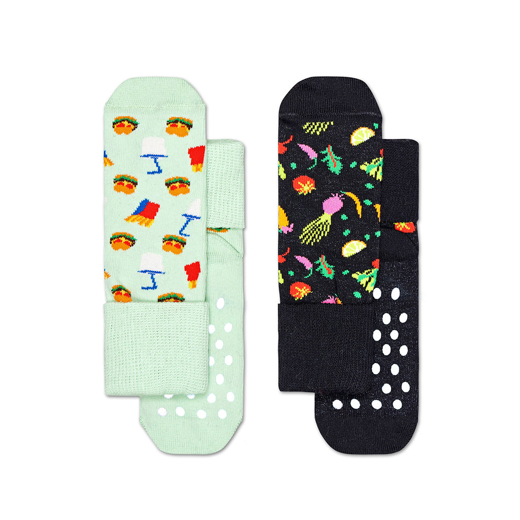 Happy Socks - 2-Pack Anti-Slip Socks - Food | Mapamundi Kids