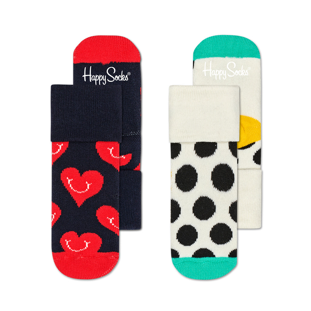 Happy Socks - 2-Pack Smiley Heart Terry Socks