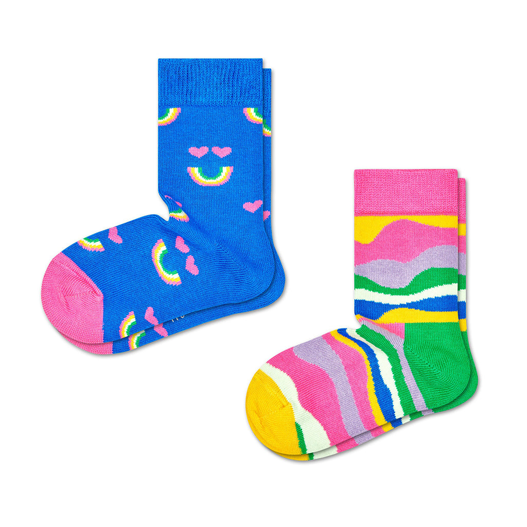 Happy Socks - 2-Pack Socks - Happy Rainbow | Mapamundi Kids